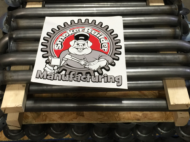 SmokerBuilder Manufacturing 12 inch door decal