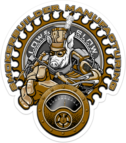 SmokerBuilder Manufacturing 5 inch SteamPunk Torchy Pig Decal
