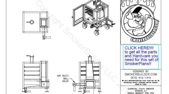 Smokerbuilder new mini gravity feed smoker plans dxf cnc cad files included malvernweather Choice Image