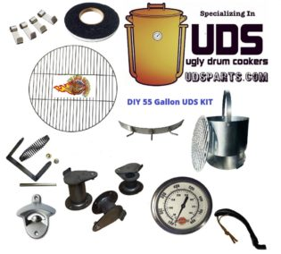 DIY UDS Complete Parts Kit for 55 gallon Ugly Drum Smoker